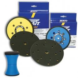 SAIT Abrasivi, Saitac Pad Vel Rotorbitales, Soporte para discos para fijación con gancho y bucle