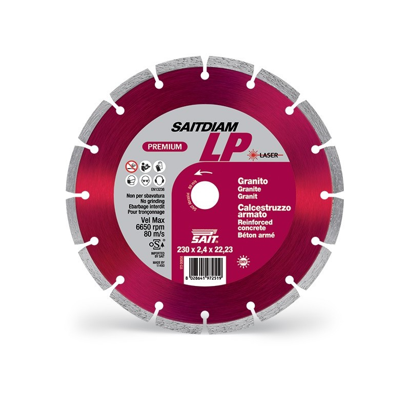 SAIT Abrasivi Saitdiam Laser LP, Premium, para Granitos, Hormigón