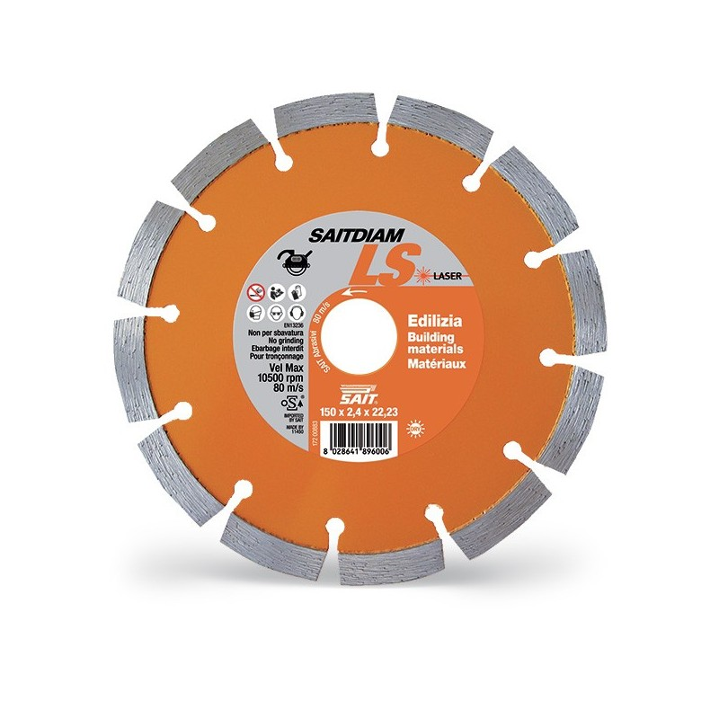 SAIT Abrasivi Saitdiam Laser LS, Premium, para Materiales de Construcción