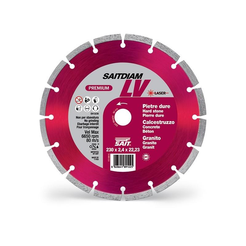 SAIT Abrasivi Saitdiam Laser LV, Premium, pour Pierres, Granits, Bétons