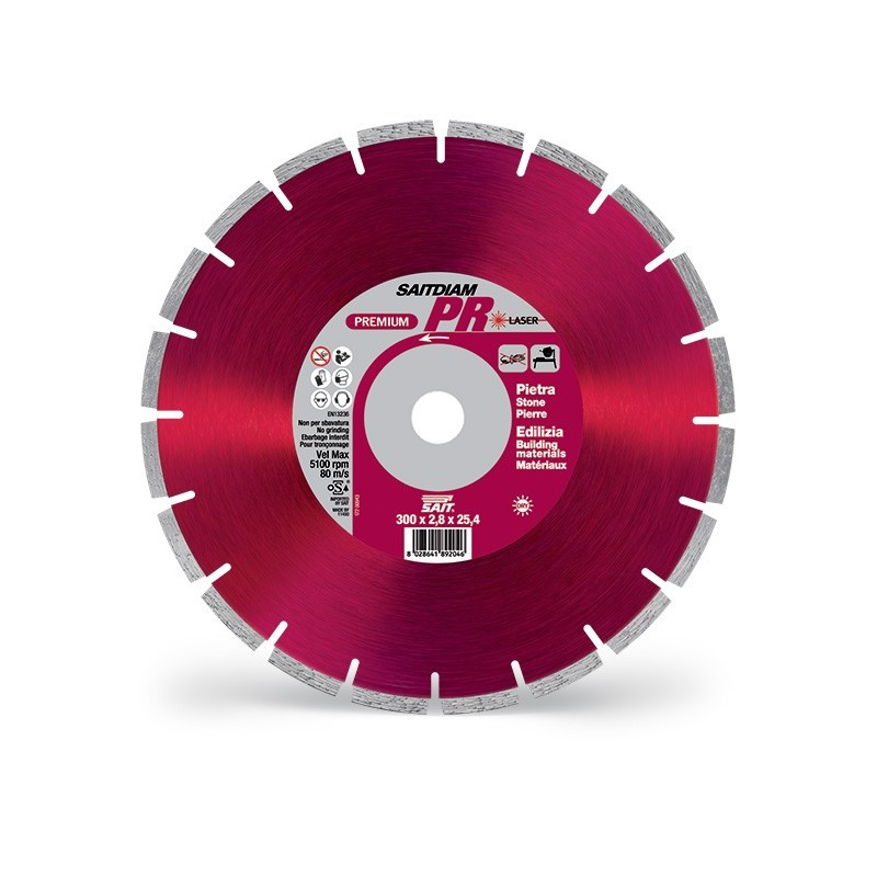 SAIT Abrasivi Saitdiam Laser PR, Premium, per Pietra, Materiale Edilizia