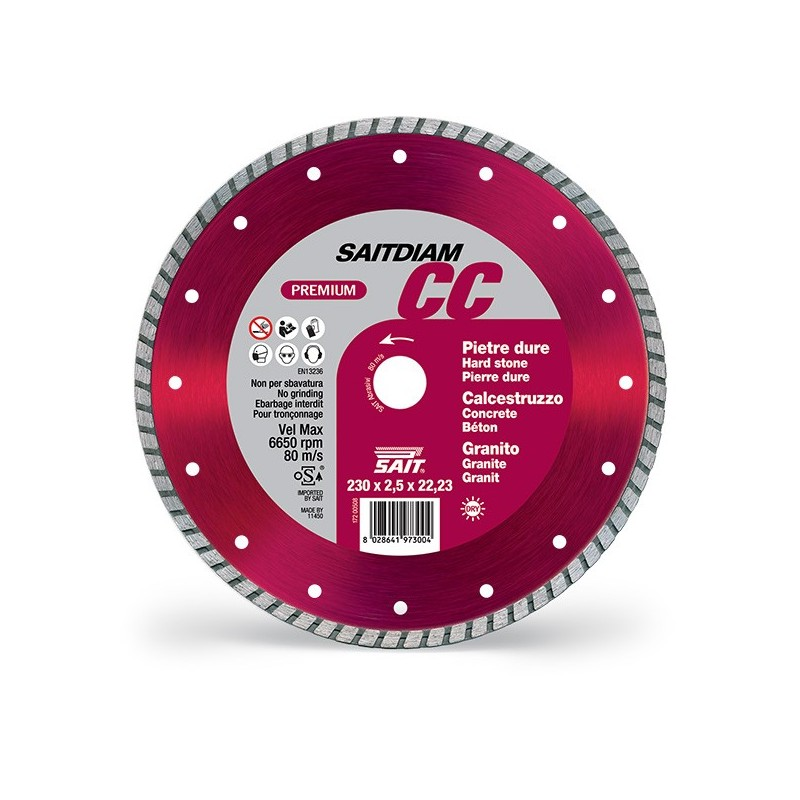 SAIT Abrasivi Saitdiam Turbo CC, Premium, per Pietre, Graniti, Calcestruzzi