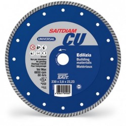 SAIT Abrasivi Saitdiam Turbo CU, Universal, para Materiales de Construcción