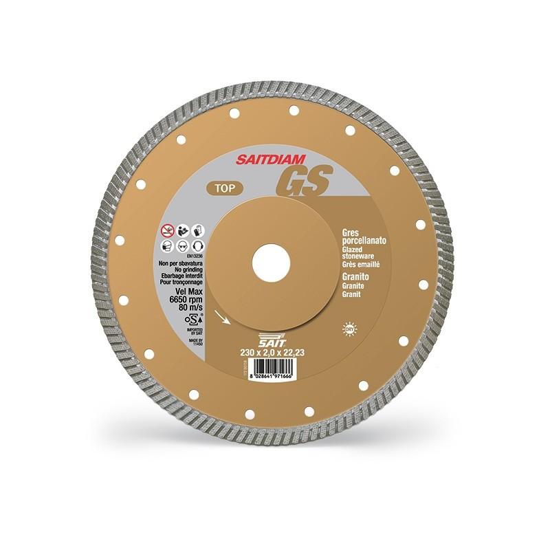 SAIT Abrasivi Saitdiam Turbo GS, TOP, para Granitos, Gres porcelánico