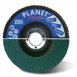 SAIT Abrasivi, Planet MARS, Conical Abrasive Flap Disc, for Metal Applications