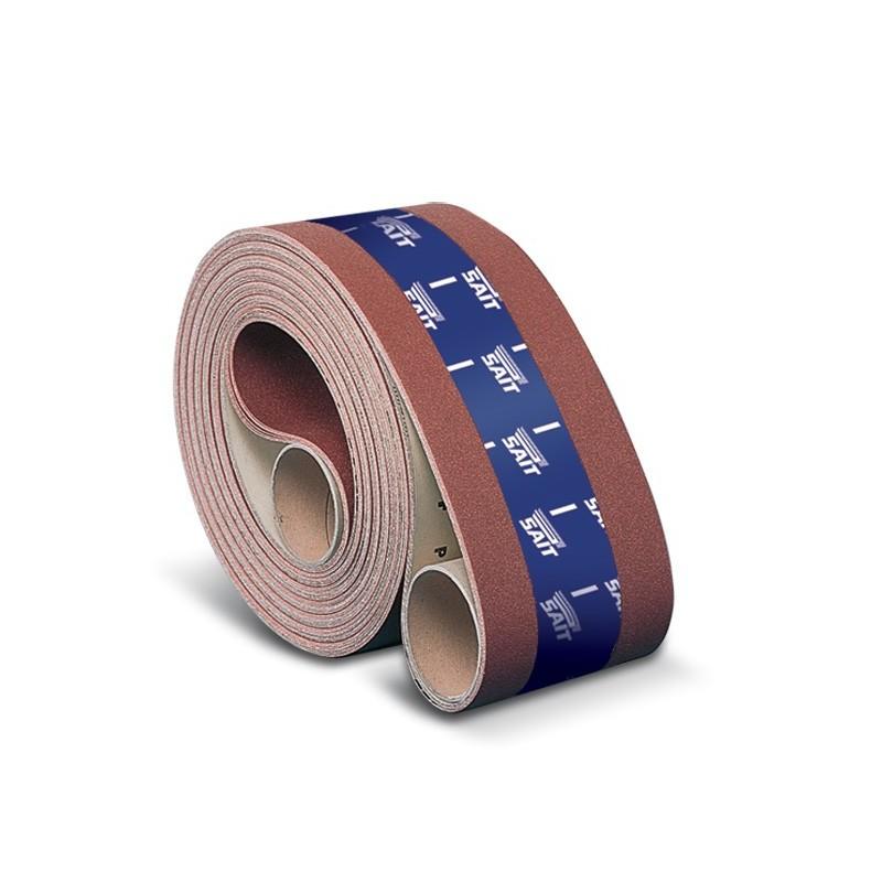 SAIT Abrasivi, N-Saitac- AN-F, Fita de abrasivo em costado de papel, por Madeira Aplicações