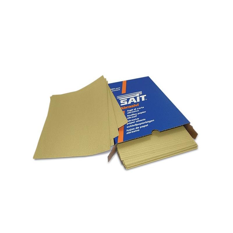 SAIT Abrasivi, S-Saitac- 5G, Fogli di carta abrasiva, per Applicazioni Legno, Carrozzeria