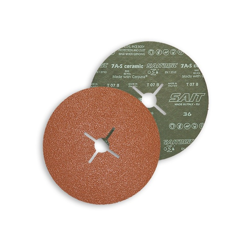 SAIT Abrasivi, Fibre Disc, Zirconia ceramic, Saitdisc 7 A-S, for Steels
