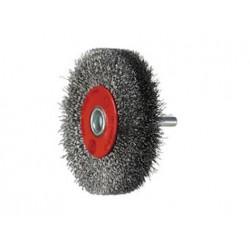 SAIT Abrasivi, SG-CR Filo Ondulato, Spazzola circolare con gambo, per Metallo, Carrozzeria  Applicazioni