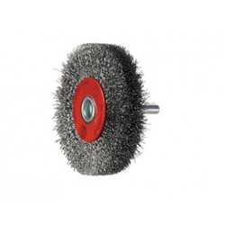 SAIT Abrasivi, SG-CR Crimped Wire, Wheel Brush with Shank, for Metal, Automotive Applications