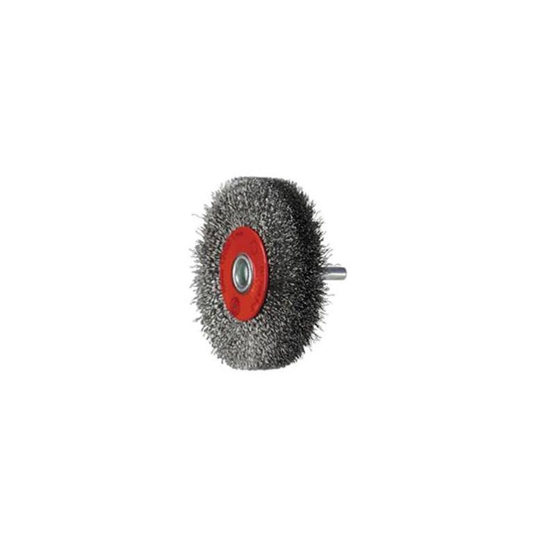 SAIT Abrasivi, SG-CR GEWELLTER DRAHT, Rundbürste mit Schaft, fur Metal, Automotive Anwendungen