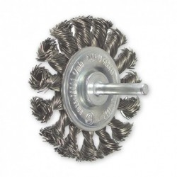 SAIT Abrasivi, SG-Cr Meches Torsadees, Brosse circulaire sur tige, pour Metal, Carrosserie Preconisations