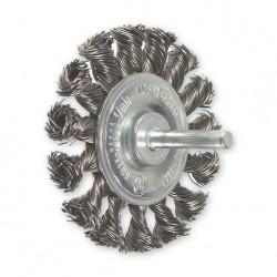 SAIT Abrasivi, SG-CR Alambre Trenzado, Cepillo circular con eje, para Metal, Carroceria Aplicaciones