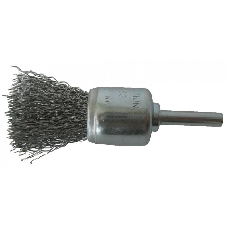 SAIT Abrasivi, SG-FR GEWELLTER DRAHT, Pinsebürste mit Schaft, fur Metal, Automotive Anwendungen