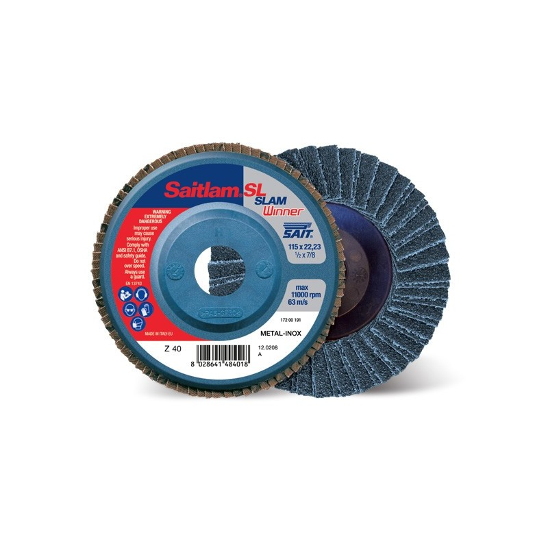 SAIT Abrasivi, Winner, Saitlam-SL C, Abrasive double flap disc, for Metal Applications, Building Materials Applications