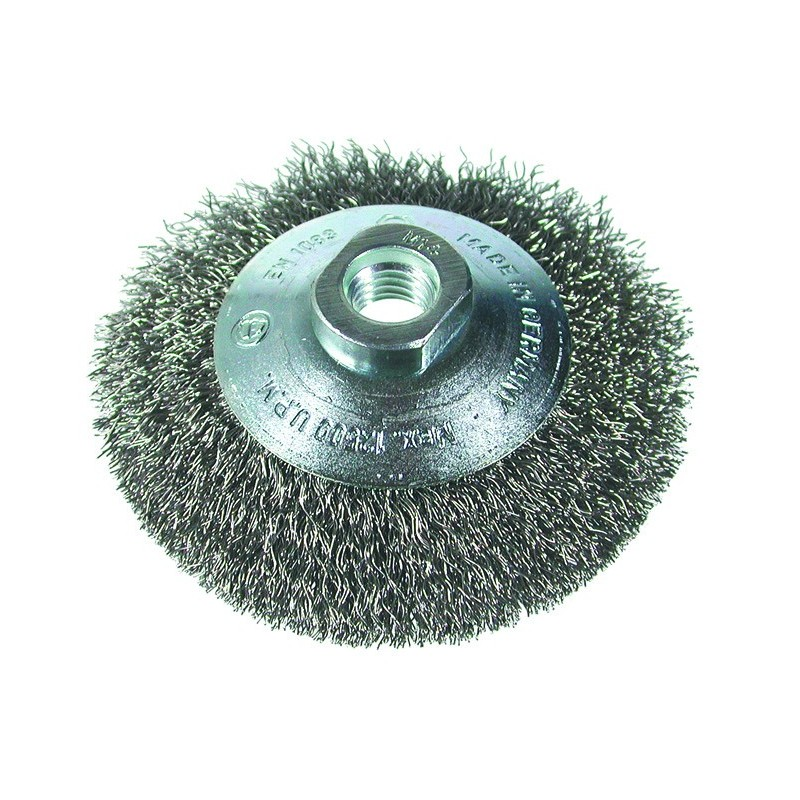 SAIT Abrasivi, SM-CO fil ondulé, brosse circulaire conique, pour Carrosserie Preconisations