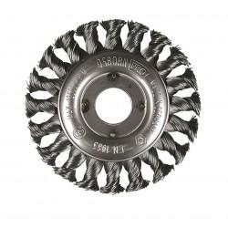 SAIT Abrasivi, SM-Cr Meches Torsadees, Brosse circulaire, pour Metal, Carrosserie Preconisations