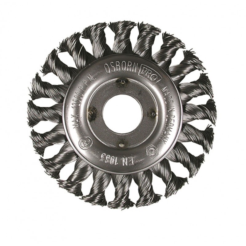 SAIT Abrasivi, SM-CR Knotted Wire, Wheel Brush, for Metal, Automotive Applications