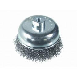 SAIT Abrasivi, SM-TA Hilo Ondulado, Cepillo tipo taza, para Metal Aplicaciones