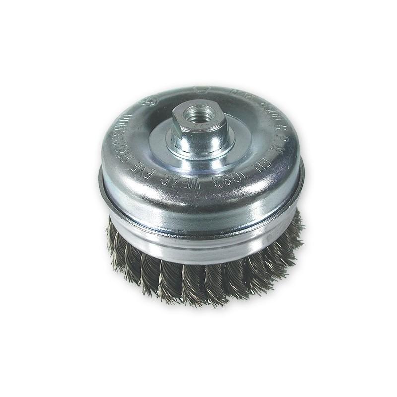 SAIT Abrasivi, SM-TA Alambre Trenzado, Cepillo tipo taza, para Metal, Carroceria Aplicaciones