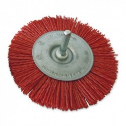 SAIT Abrasivi, SN-CR con eje, Cepillo circular con eje, para Metal, Madera, Carroceria, Otras Aplicaciones