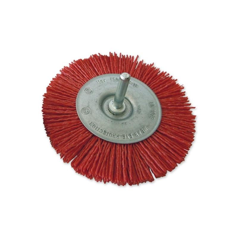 SAIT Abrasivi, SN-CR con gambo, Spazzola circolare con gambo, per Metallo, Legno, Carrozzeria, Altro Applicazioni
