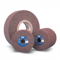 SAIT Abrasivi, F-Saitpol, Abrasive flap wheels on non-woven web, for Metal Applicatons