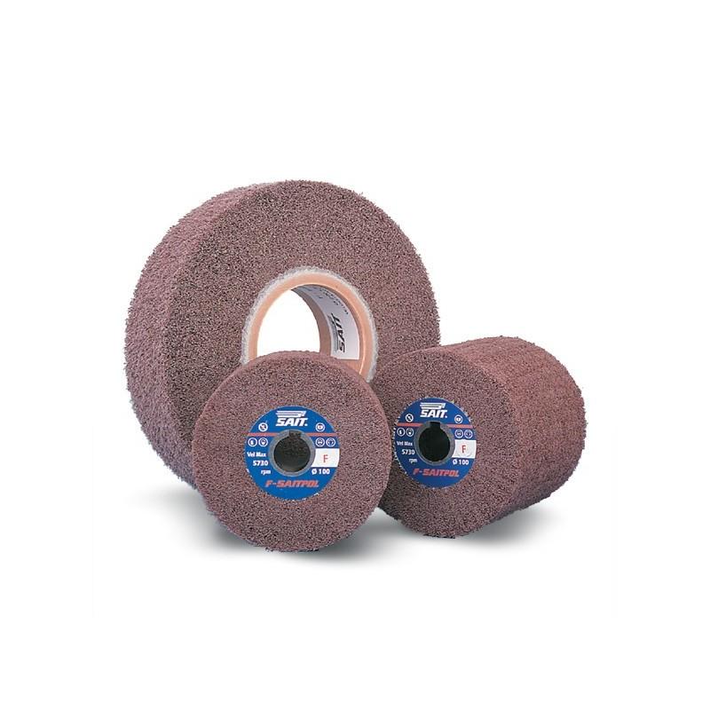 SAIT Abrasivi, F-Saitpol, Rodas flap com orifício em tecido não tecido, por Metal Aplicações