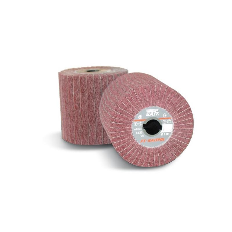 SAIT Abrasivi, FT-Saitpol, Roues à lamelles en toile et tissu non tissé, pour Metal Preconisations