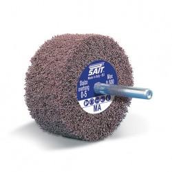 SAIT Abrasivi, G-Saitpol, Schleifräder mit Schaft aus Vlies, fur Metall Anwendungen