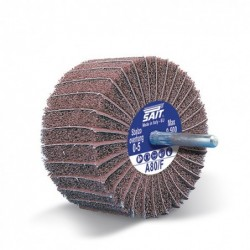SAIT Abrasivi, GT-Saitpol, Schleifrad mit Schaft aus Schleifstoff und -vlies, fur Metall Anwendungen