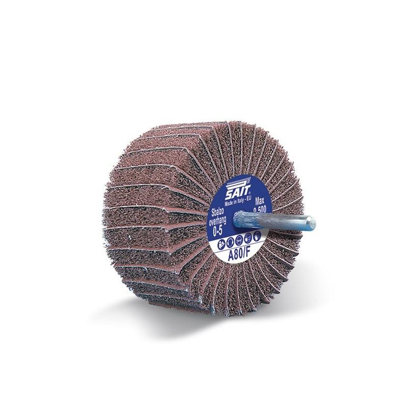 SAIT Abrasivi, GT-Saitpol, Cepillo montado en eje de tela y textil no tejido, para Metal Aplicaciones