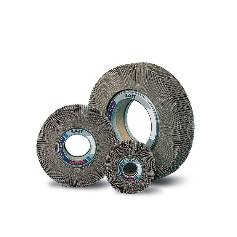 SAIT Abrasivi, F-SAITOR A, Abrasive flap wheels with hole, for Metal Applications and Other Applications