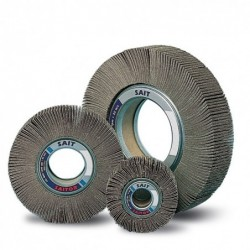 SAIT Abrasivi, F-SAITOR AZ, Abrasive flap wheels with flange, for Metal Applications
