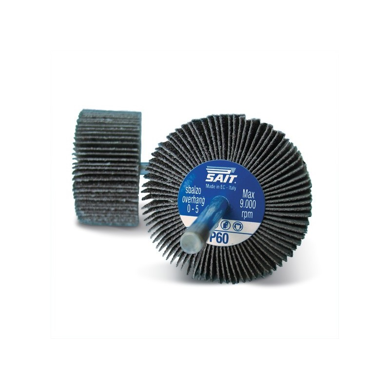 SAIT Abrasivi, G-SAITOR 3A, Abrasive flap wheels with shank, for Metal Applications