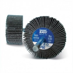 SAIT Abrasivi, G-SAITOR C, Abrasive flap wheels with shank, for Metal, Buildig Materials, Wood and Other Applications