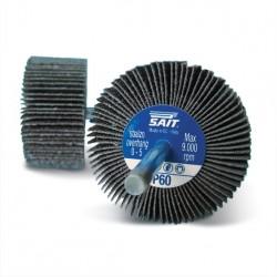 SAIT Abrasivi, G-SAITOR C, Ruote abrasive lamellari con gambo, per Applicazioni Metallo, Pietra, Legno e Altre