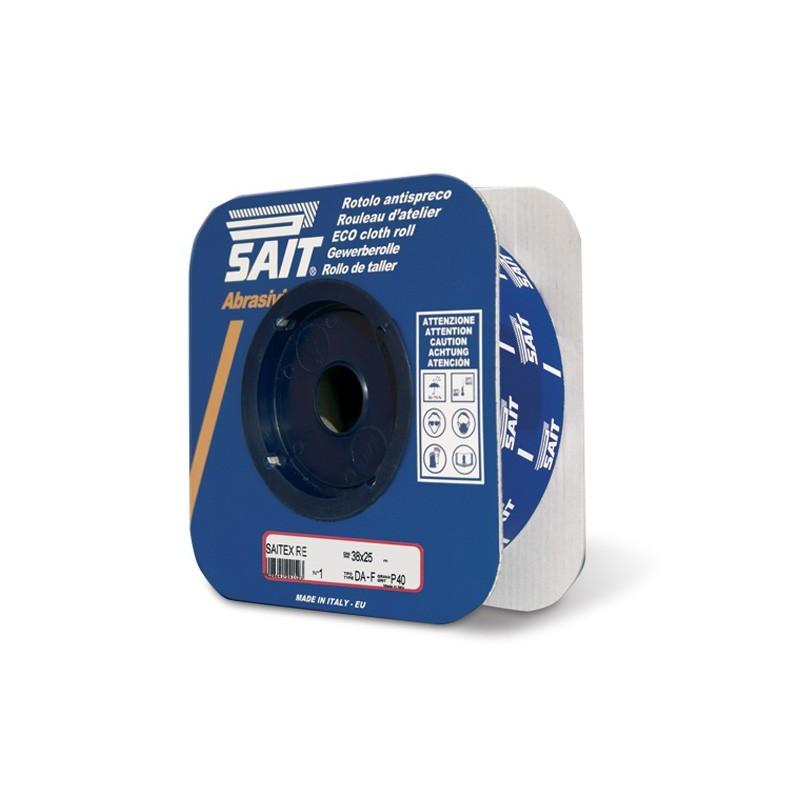 SAIT Abrasivi,  RE-Saitex DA-F, Rolo antidesperdício em costado de tela, por Aplicações Metal, Madeira, Outras
