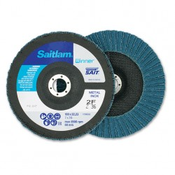 SAIT Abrasivi, Winner, Saitlam-Double, Abrasive Double flap disc, for Metal Applications