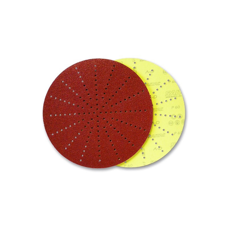 SAIT Abrasivi, D-Saitac-Vel A-D, Disco de papel para fijación con gancho y bucle, para Madera, Construccion Aplicaciones