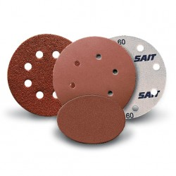 SAIT Abrasivi, D-Saitac-Vel AW-D, Hook and loop paper disc, for Wood, Automotive Applications