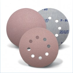 SAIT Abrasivi, D-Saitac-Vel 3S, Hook and loop paper disc, for Metal, Wood, Automotive Applications