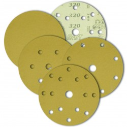 SAIT Abrasivi, D-Saitac-Vel 5G, Hook and loop paper disc, for Wood, Automotive Applications