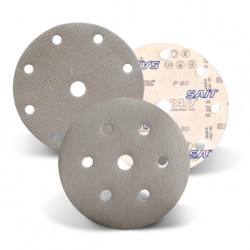 SAIT Abrasivi, D-Saitac-Vel 6A, Hook and loop paper disc, for Metal, Wood, Automotive Applications
