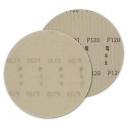 SAIT Abrasivi, DV-Free Dust, Disco  para fijación con gancho y bucle en red de nylon, para Madera, Construccion Aplicaciones