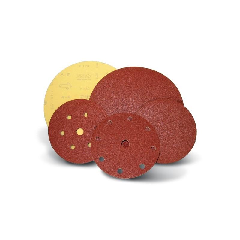 SAIT Abrasivi, D-Saitac-Vel A-E, Disco autoaggrappante di carta, per Applicazioni Metallo, Carrozzeria, LEgno, Altre