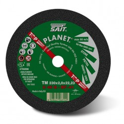 SAIT Abrasivi, PLANET - TM C 46 Q, Flat cutting wheel, for Metal Aplicaciones