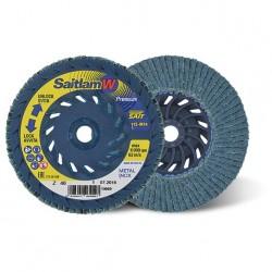 SAIT Abrasivi, Premium, Saitlam-W, Disco abrasivo lamellare piano, per Acciai, Acciai Inox, Acciai Legati, Metalli Non Ferrosi