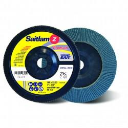 SAIT Abrasivi, Premium, Saitlam ZK Z, Abrasive conical flap disc, for Steels, Alloy steels, Non-ferrous metals