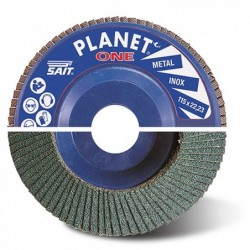 SAIT Abrasivi, Planet ONE AZ, Abrasive flat flap disc, for Metal Applications